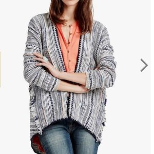 Lucky brand pottery open cardigan small